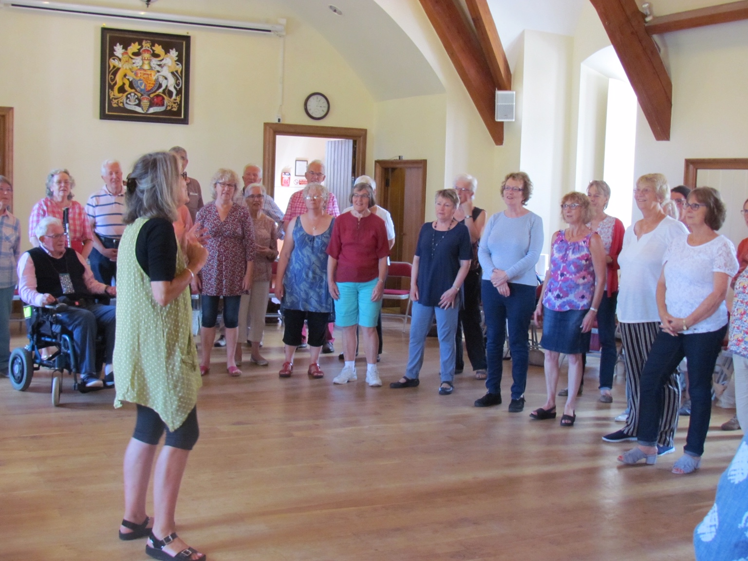 Summer singing workshop at the Brownsword Hall in Poundbury, August
