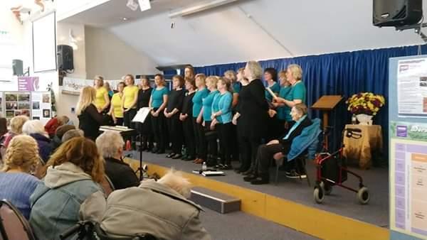 Viva! singing at the Dorset Women's Day Festival, Dorford Baptist Church, February