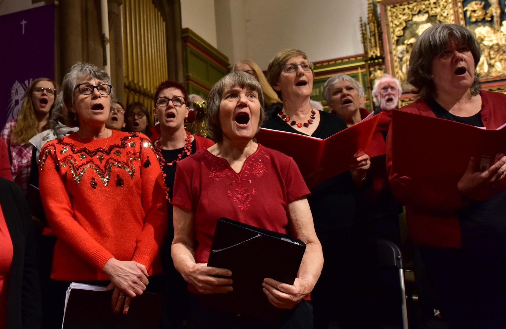 Members of Viva! sing at the Combined Choirs Christmas Concert